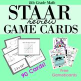 8th Grade Math STAAR REVIEW GAMECARDS
