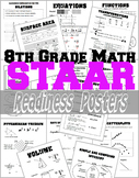 8th Grade Math STAAR Readiness Posters