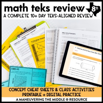 8th Grade Math TEKS Test Prep and Review