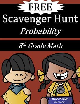 8th Grade Math Scavenger Hunt: Probability