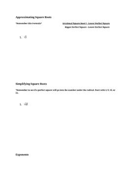 8th Grade Math Semester Test