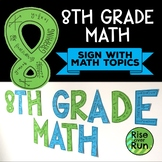 8th Grade Math Sign Classroom Decor