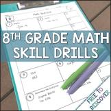 8th Grade Math Skill Drills