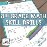 8th Grade Math Skill Drills {Free Sample}