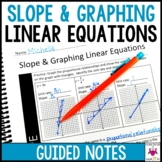 Graphing Linear Equations Guided Notes - Graphing and Slope Notes
