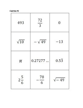 Rational and Irrational Math Sort