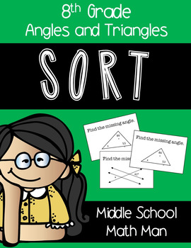 8th Grade Math Sort - Angles and Triangles