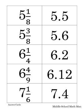 8th Grade Math Sort - Rational Numbers