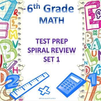 6th Grade Math Spiral Review Set 1