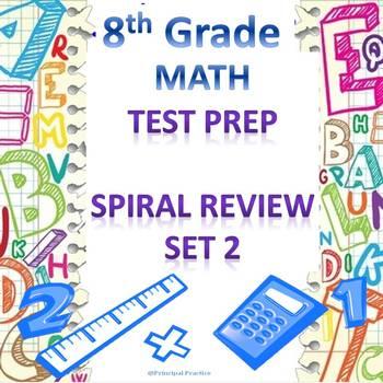 8th Grade Math Spiral Review Set 2