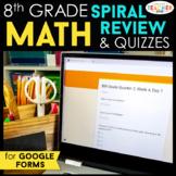8th Grade Math Spiral Review DIGITAL   Google Classroom   Distance Learning