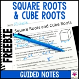 Square Roots and Cube Roots Guided Notes - Square Roots and Cube Roots Notes