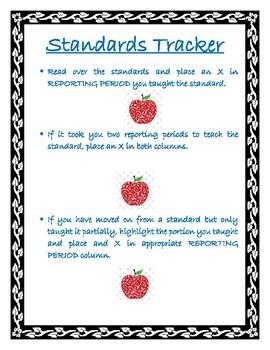 8th Grade Math Standard Tracker