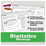Warmups: Statistics: 8th Grade Math (Pre-Algebra) (Common Core Standards)