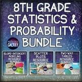 8th Grade Math Statistics and Probability Activity Bundle