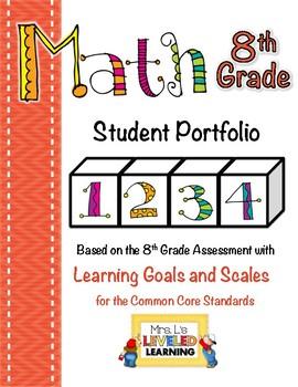 8th Grade Math Student Portfolio with Marzano Scales!