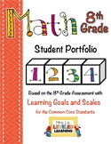 8th Grade Math Student Portfolio with Marzano Scales!