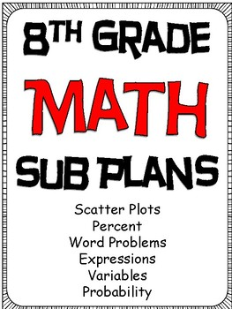8th Grade Math Substitute Plans