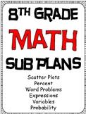 8th Grade Math Substitute Plans