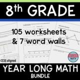 8th Grade Math Homework or 8th Grade Math Guided Notes Bun