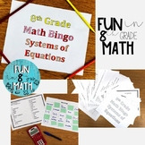 8th Grade Math Systems of Equations Review Bingo
