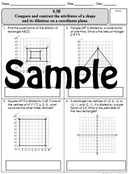 8th Grade Math TEKS Assessments {124 Problems!}