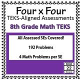 8th Grade Math TEKS Assessments {192 Problems!}