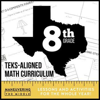 8th Grade Math TEKS Bundle