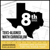 8th Grade Math TEKS Curriculum Bundle