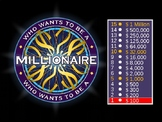 8th Grade Math TEKS - Financial Literacy - Millionaire Game Review (editable)