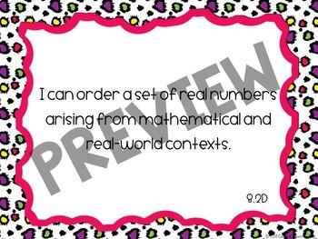 8th Grade Math TEKS I Can Statement