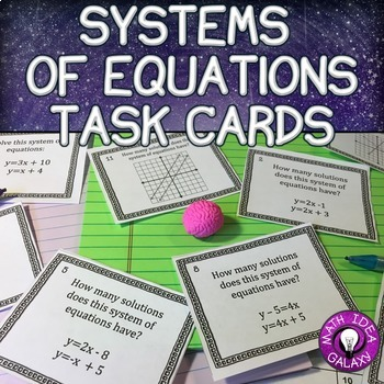 8th Grade Math Task Card Pack