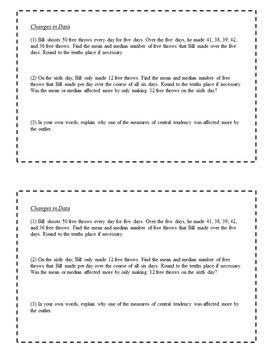 8th Grade Math Task Cards - Data Analysis and Statistics