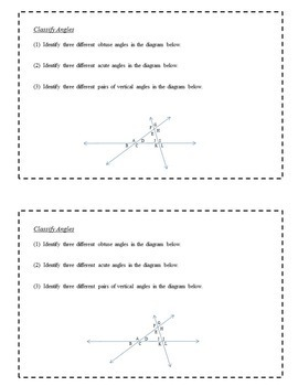 8th Grade Math Task Cards - Two- and Three-Dimensional Geometry