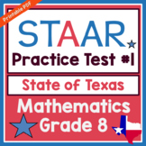 Texas 8th Grade Math (STAAR) Practice Test #1 for TEKS