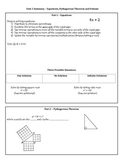 8th Grade Math Unit 2 Summary - Equations, Pythagorean The
