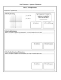 8th Grade Math Unit 5 Summary - Systems of Equations