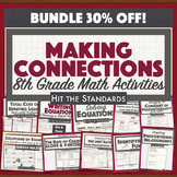 8th Grade Math Making Connections BUNDLE End of Year, STAAR Summer Review 30%OFF