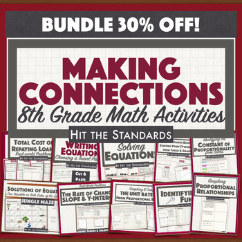 8th Grade Math Making Connections STAAR Review UNIT 10 BUNDLE 30%OFF