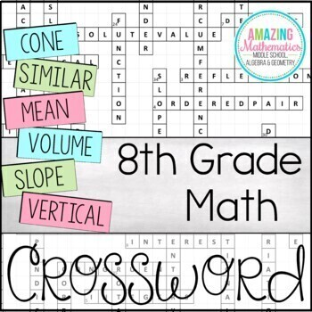 8th Grade Math Vocabulary Crossword