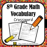 8th Grade Math Vocabulary Crossword Puzzle