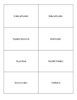 8th Grade Math Vocabulary Flashcards (Review)