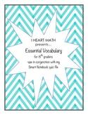 8th Grade Math Vocabulary List