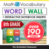 Math Word Wall & Interactive Notebook Inserts for 8th Grade