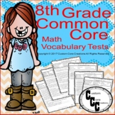 8th Grade Math Vocabulary Tests