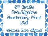 8th Grade Math Vocabulary Word Wall