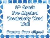8th Grade Math Word Wall