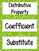 8th Grade Math Vocabulary bundle