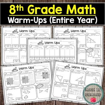 8th Grade Math Warm-Ups (Entire Year)