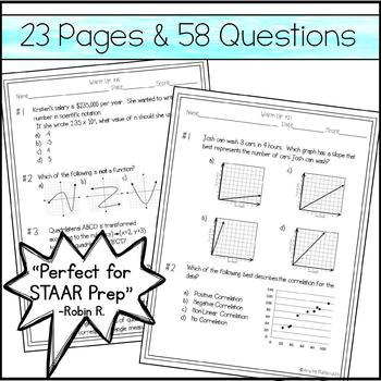 8th Grade Math Warm Ups - STAAR Prep